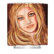 Natalie Self Portrait Shower Curtain
