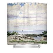 Natalie's Beach Shower Curtain