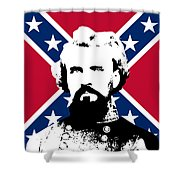 Nathan Bedford Forrest And The Rebel Flag Shower Curtain by War Is Hell Store