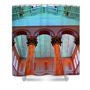 National Column Orange Shower Curtain