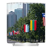 National Flags Of Various Countries Shower Curtain