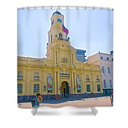 National History Museum On Plaza De Armas In Santiago-chile Shower Curtain