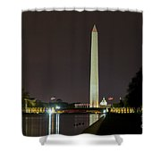 National Mall At Night Shower Curtain