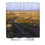 National Old Trails South Of Santa Fe Shower Curtain