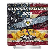 National Veterans Creative Arts Festival Shower Curtain