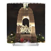 National War Memorial At Night Shower Curtain