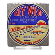 Nations Southernmost City Shower Curtain