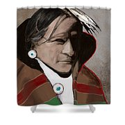 Native American 3 Revisited 2016 Shower Curtain