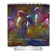 Native American - 5 Girls Dancing In The Moonlight Shower Curtain