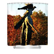 Native American And Eagle Shower Curtain