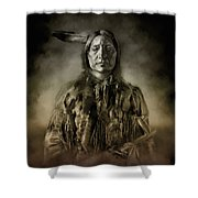 Native American Chief-scabby Bull 2 Shower Curtain
