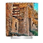 Native American Cliff Dwellings Shower Curtain