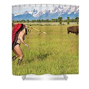 Native American Darcy 3 Shower Curtain
