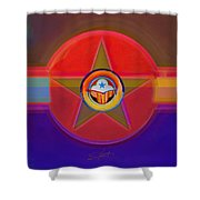Native American Decal Shower Curtain