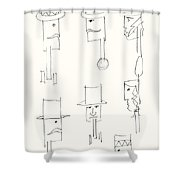 Native American Figures Shower Curtain
