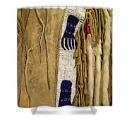 Native American Great Plains Indian Clothing Artwork Vertical 06 Shower Curtain