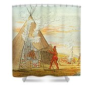 Native American Indian Sweat Lodge Shower Curtain by Science Source