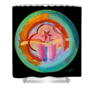 Native American Plate Shower Curtain