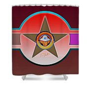 Native American Red Shower Curtain