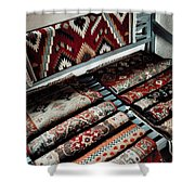 Native American Rugs Shower Curtain