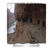 Native American Ruins Of Nankoweap Shower Curtain