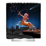Native American Sagittarius Shower Curtain