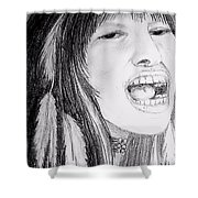 Native American Singer Shower Curtain