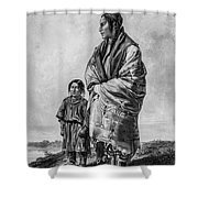 Native American Squaw And Child Shower Curtain