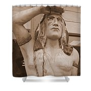 Native American Statue In Toppenish Shower Curtain
