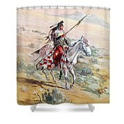 Native American Warrior Shower Curtain