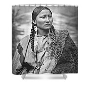 Native American Woman War Chief Pretty Nose Shower Curtain
