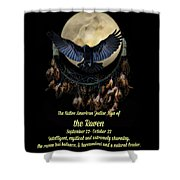 Native American Zodiac Sign Of The Raven Shower Curtain