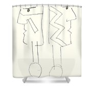 Native Americans Drawing Shower Curtain by Charles Stuart