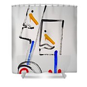 Native Americans Two Shower Curtain