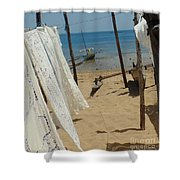 Native Beach Scene Shower Curtain