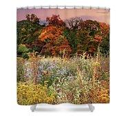 Native Garden Sunset Shower Curtain