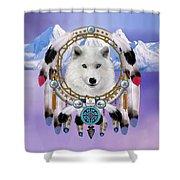 Native Indian Wolf Spirit Shower Curtain