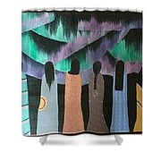Native Northern Lights Moments Shower Curtain