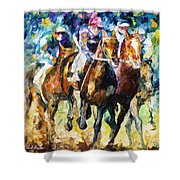 Native Raiser - Palette Knife Oil Painting On Canvas By Leonid Afremov Shower Curtain
