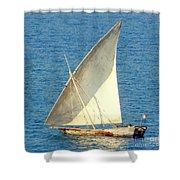 Native Sail Boat Shower Curtain