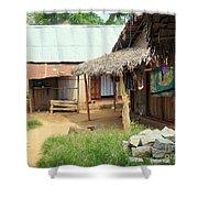 Native Street Scene Shower Curtain