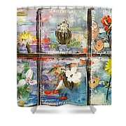 native Texas wildflowers A Shower Curtain by Michael Dillon