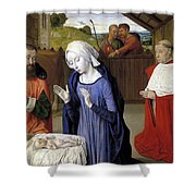 Nativity - Master Of Moulins Shower Curtain