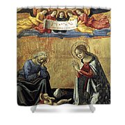Nativity By Domenico Ghirlandaio Shower Curtain