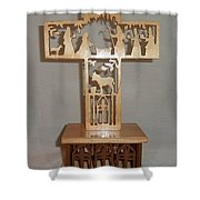 Nativity Cross  Shower Curtain