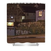 Nativity In A Mylor Bridge Garden Shower Curtain