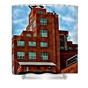 Natty Boh Tower  Shower Curtain