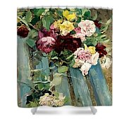 Natura Morta Con Rose Giovanni Boldini Shower Curtain
