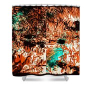 Natural Abstract Shower Curtain