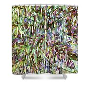 Natural Bamboo Trees Shower Curtain